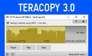 fast copy paste with teracopy